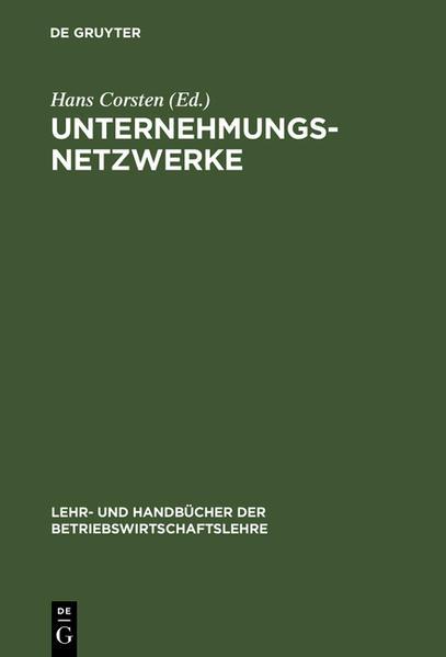 Unternehmungsnetzwerke als Buch