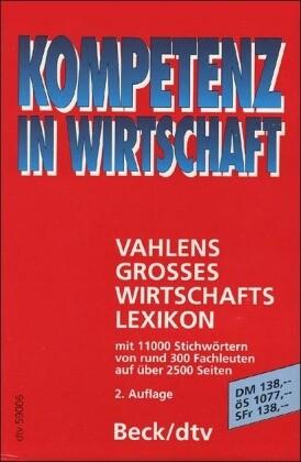 Vahlens Großes Wirtschaftslexikon, 4 Bde. als Taschenbuch