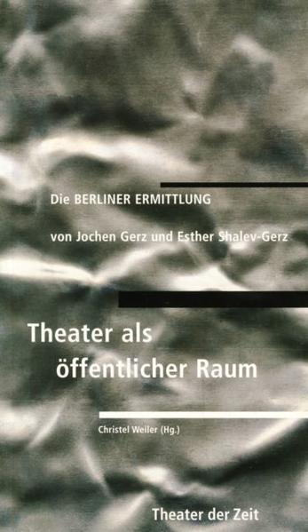 Die Berliner Ermittlung als Buch von Jochen Gerz