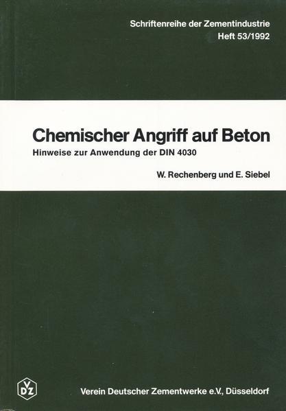 Chemischer Angriff auf Beton als Buch von Wolfr...