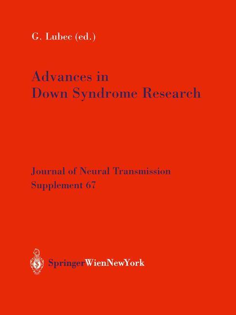 Advances in Down Syndrome Research als Buch von