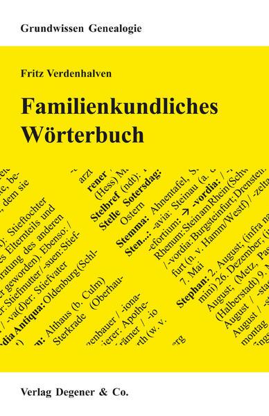 Familienkundliches Wörterbuch als Buch