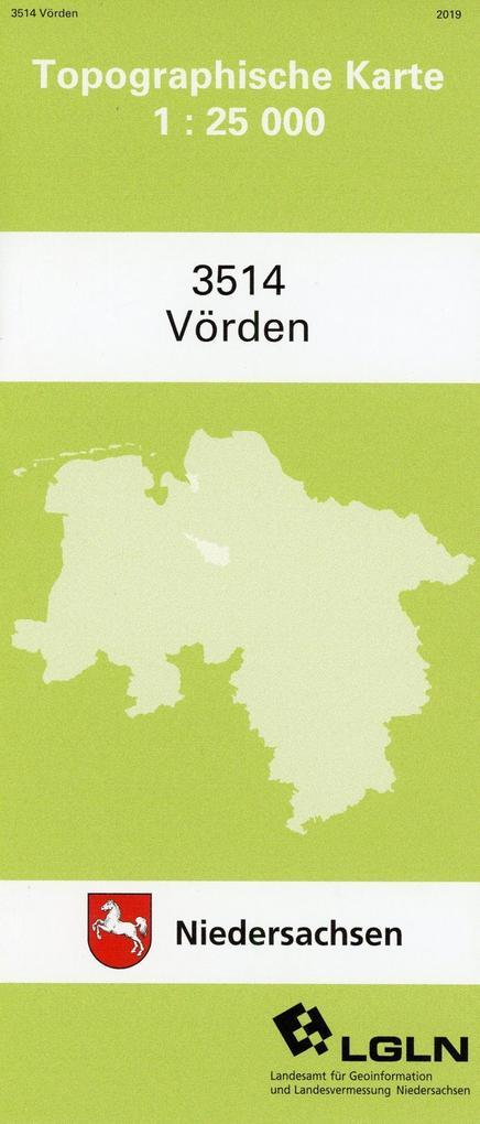 Vörden 1 : 25 000. (TK 3514/N) als Buch