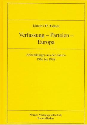Verfassung, Parteien, Europa als Buch von Dimit...