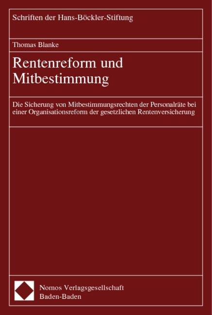 Rentenreform und Mitbestimmung als Buch von Tho...