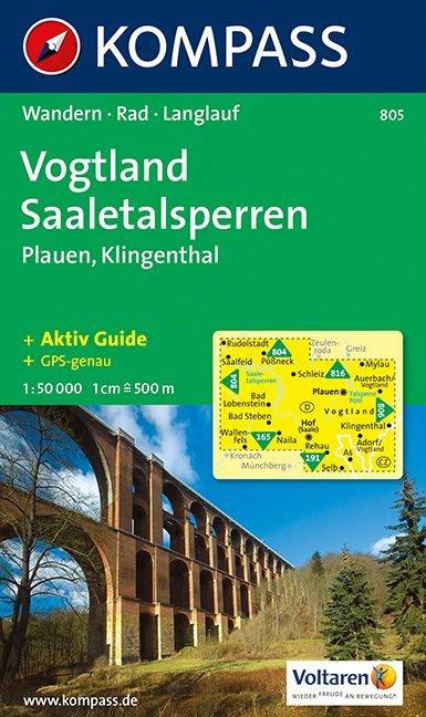Vogtland - Saaletalsperren - Plauen - Klingenthal 1 : 50 000 als Buch
