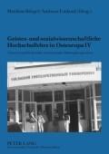 Geistes- und sozialwissenschaftliche Hochschullehre in Osteuropa IV