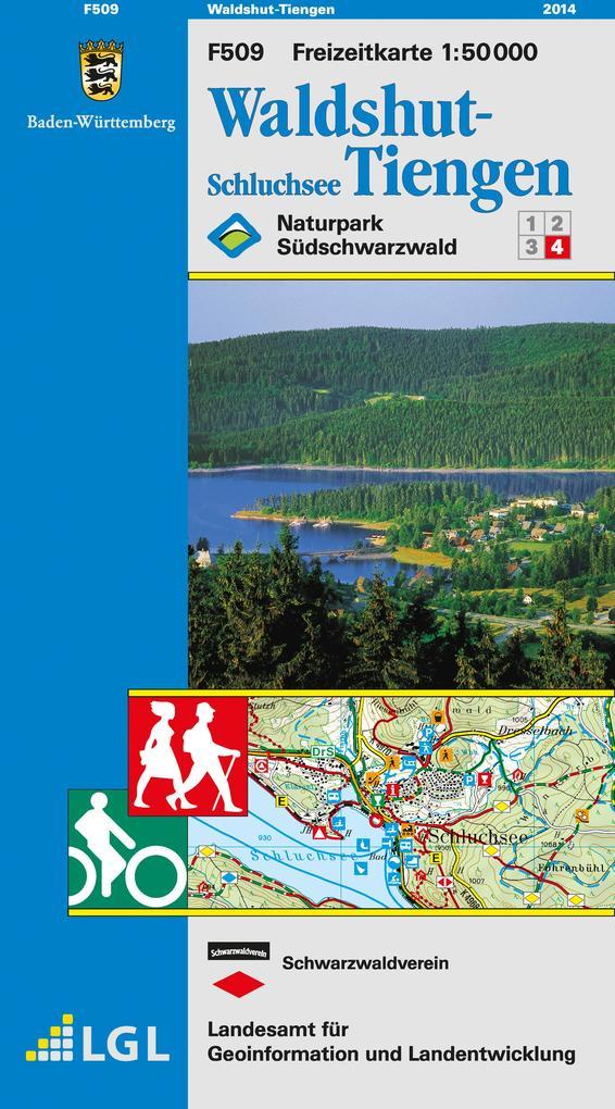 LGL BW 50 000 Freizeit Waldshut-Tiengen / Schluchsee als Blätter und Karten