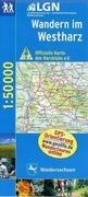 Wandern im Westharz 1 : 50 000. Topographische Karte mit Wanderwegen