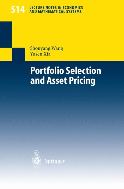 Portfolio Selection and Asset Pricing als Buch (kartoniert)