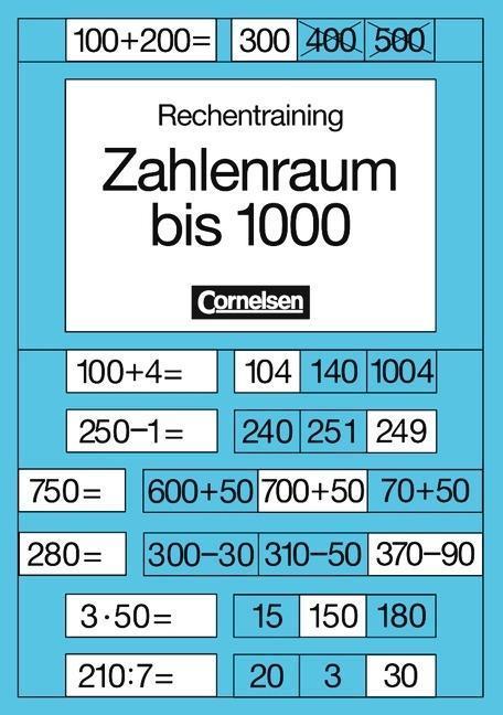 Rechentraining. Zahlenraum bis 1000 als Buch