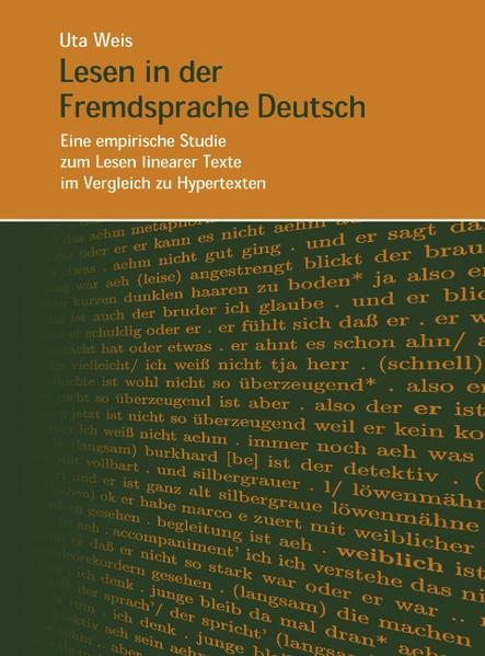 Lesen in der Fremdsprache Deutsch-Eine empirische Studie zum Lesen linearer Texte... als Buch