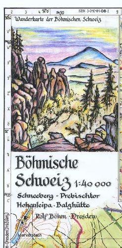 Böhmische Schweiz 1 : 40 000 als Buch von Rolf ...
