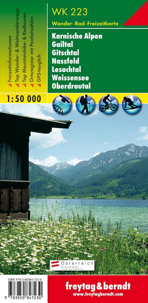 Karnische Alpen, Gailtal, Gitschtal, Nassfeld, Lesachtal, Weissensee, Oberdrautal 1 : 50 000. WK 223 als Buch