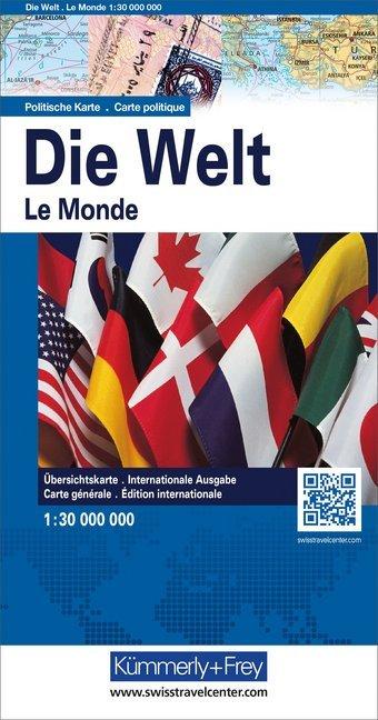 KuF Die Welt. Politische Karte 1 : 30 000 000 als Buch