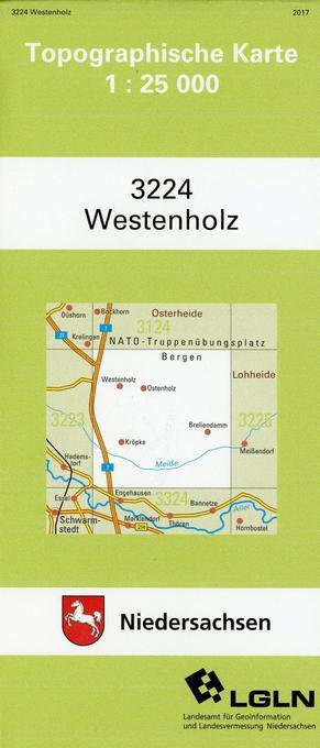 Westenholz 1 : 25 000. (TK 3224/N) als Buch