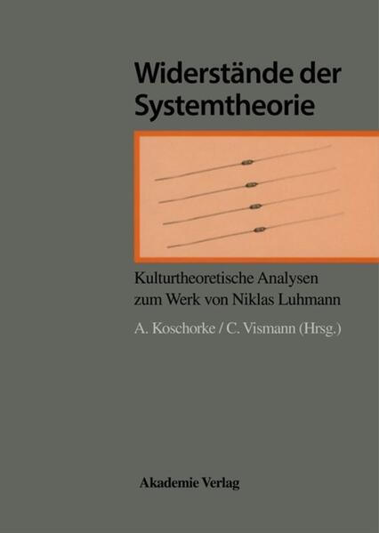 Widerstände der Systemtheorie als Buch
