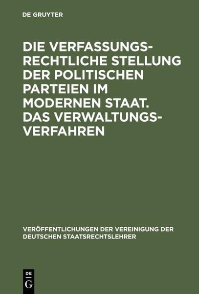 Die verfassungsrechtliche Stellung der politisc...