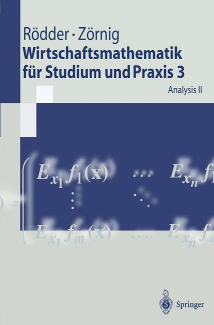 Analysis. Tl.2 als Buch