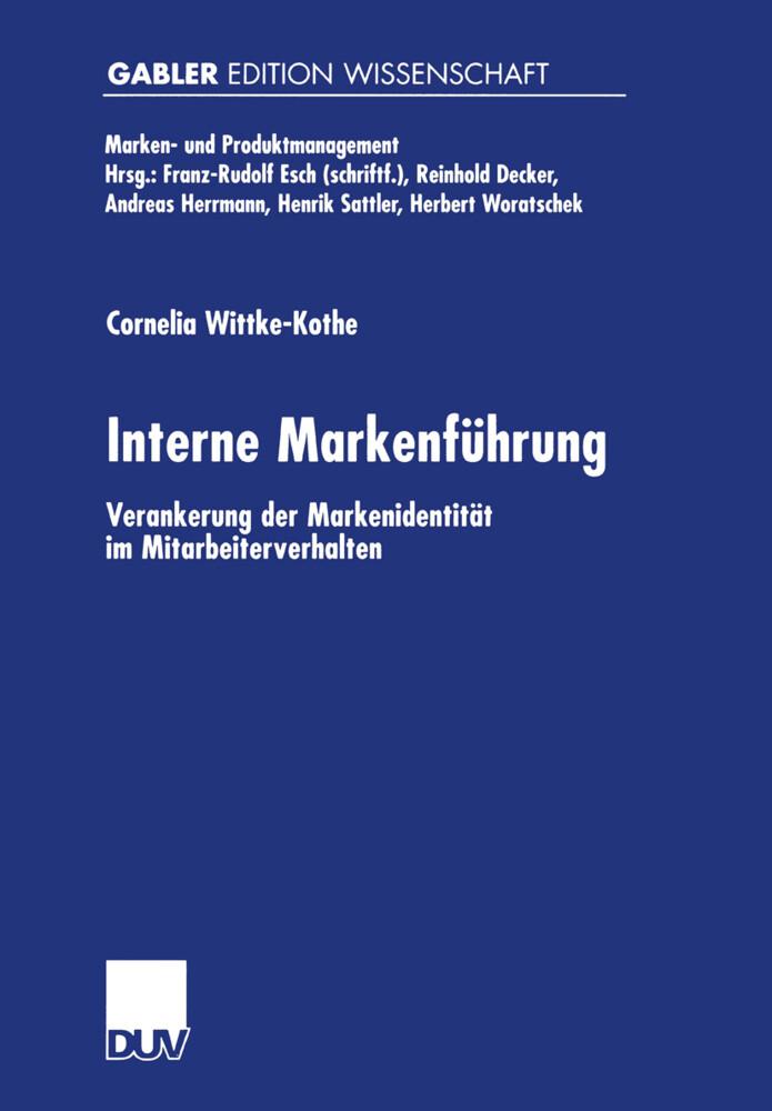Interne Markenführung als Buch