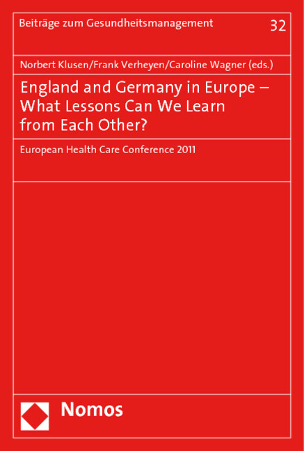 England and Germany in Europe - What Lessons Ca...