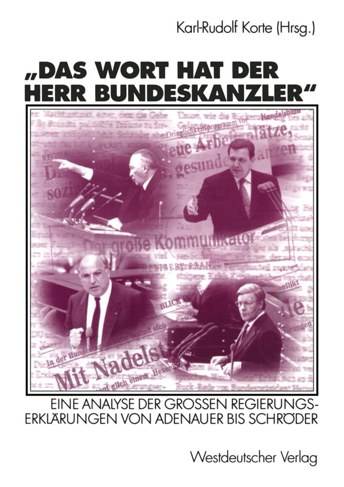 Das Wort hat der Herr Bundeskanzler als Buch