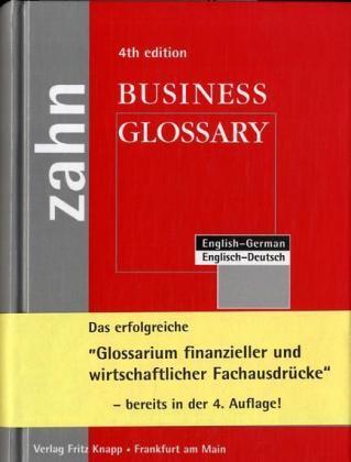 Englisch - Deutsches Business Glossary als Buch