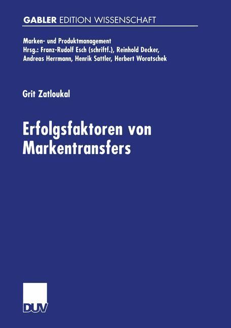 Erfolgsfaktoren von Markentransfers als Buch