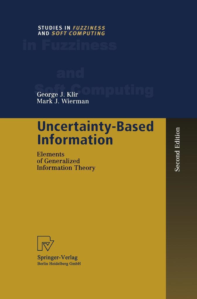 Uncertainty-Based Information als Buch (kartoniert)