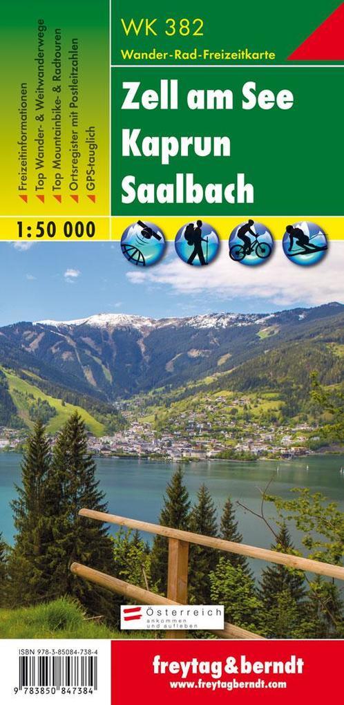 Zell am See, Kaprun, Saalbach 1 : 50 000. WK 382 als Buch