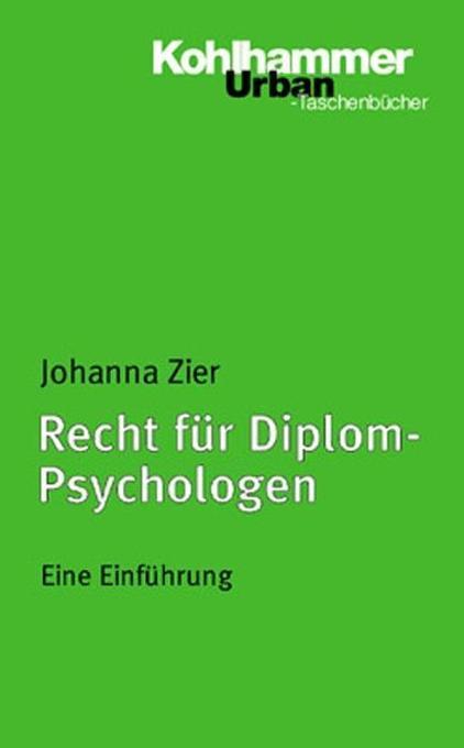 Recht für Diplom-Psychologen als Taschenbuch