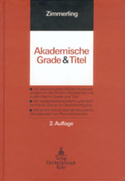 Akademische Grade und Titel als Buch