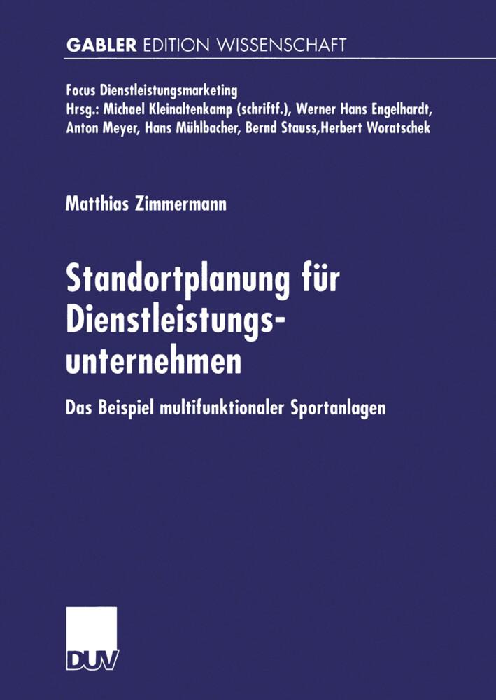 Standortplanung für Dienstleistungsunternehmen als Buch