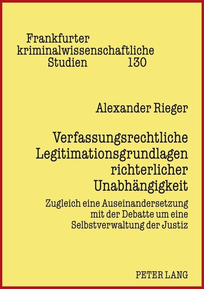 Verfassungsrechtliche Legitimationsgrundlagen r...