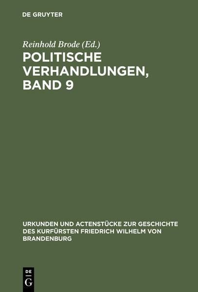Politische Verhandlungen, Band 9 als Buch von