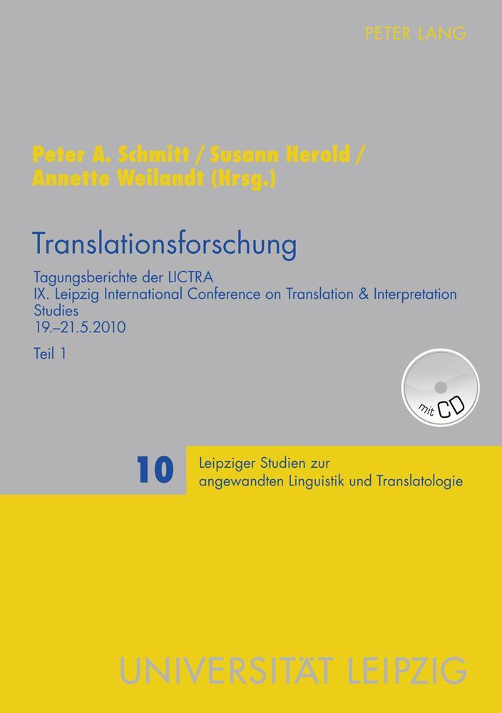 Translationsforschung / 2 Bände als Buch von