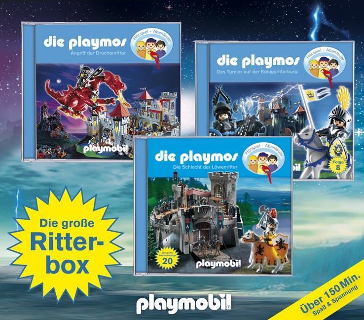 Die Playmos - Die große Ritter-Box, 3 Audio-CDs als Hörbuch CD