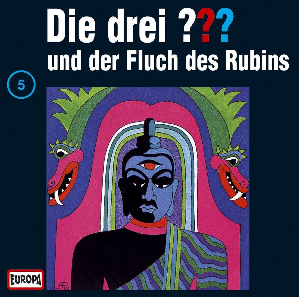 Die drei ??? 005 und der Fluch des Rubins (drei Fragezeichen). CD als Hörbuch