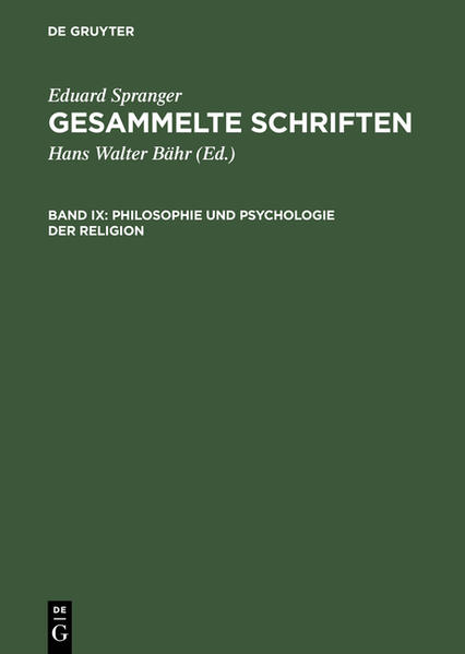 Philosophie und Psychologie der Religion als Bu...