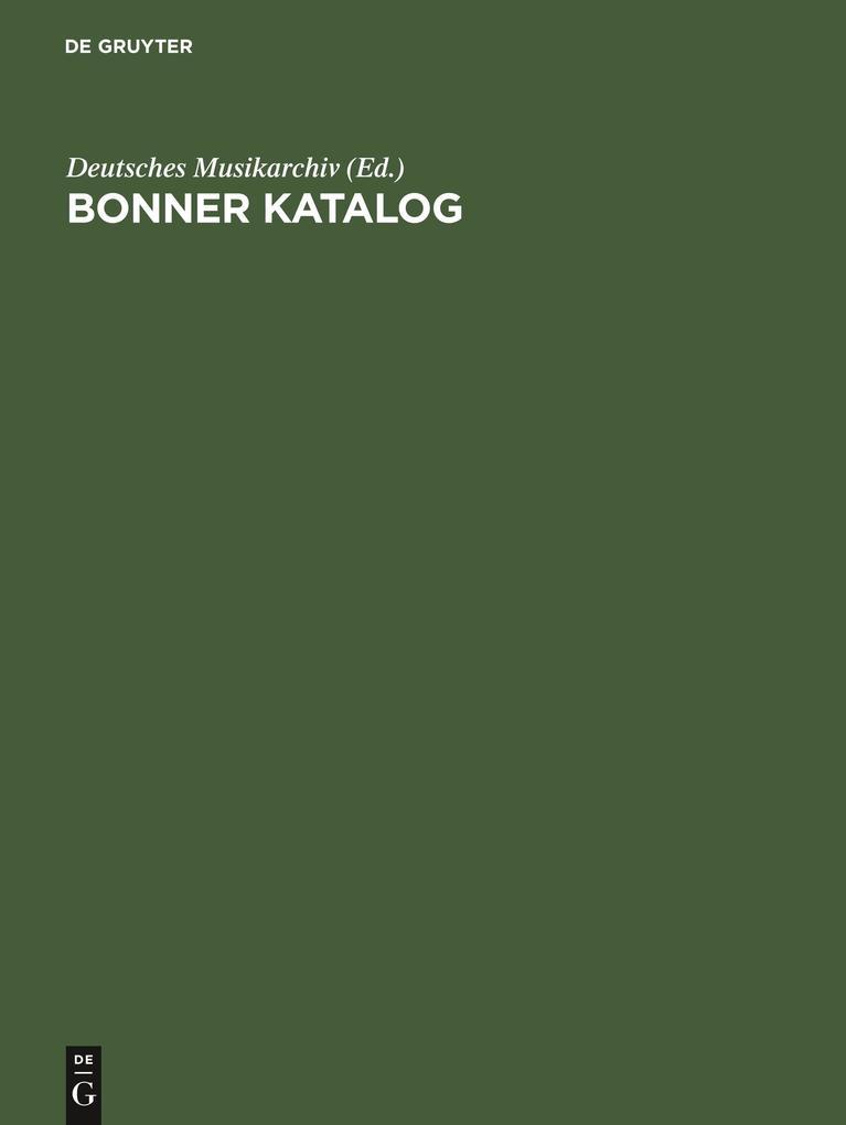 Bonner Katalog als Buch von