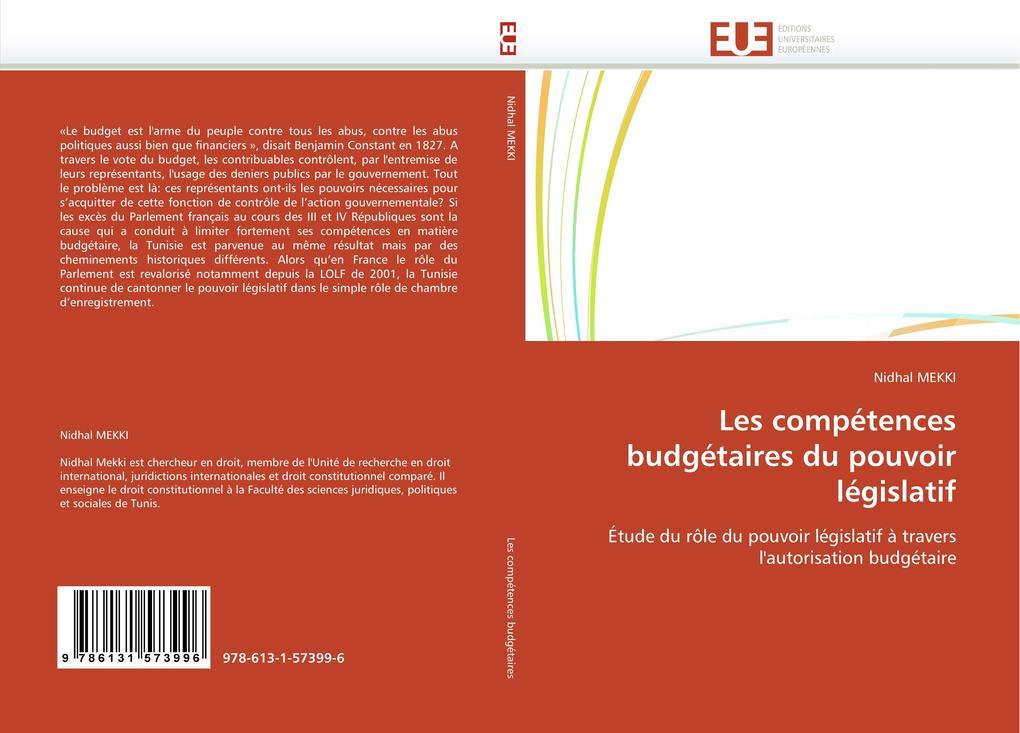 Les compétences budgétaires du pouvoir législatif als Buch (gebunden)