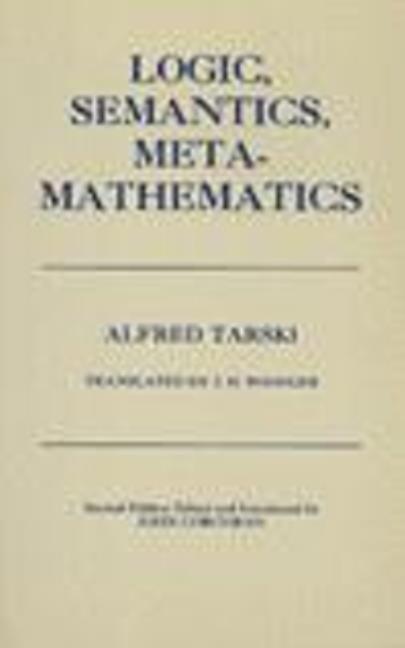 Logic, Semantics, Metamathematics als Buch (gebunden)