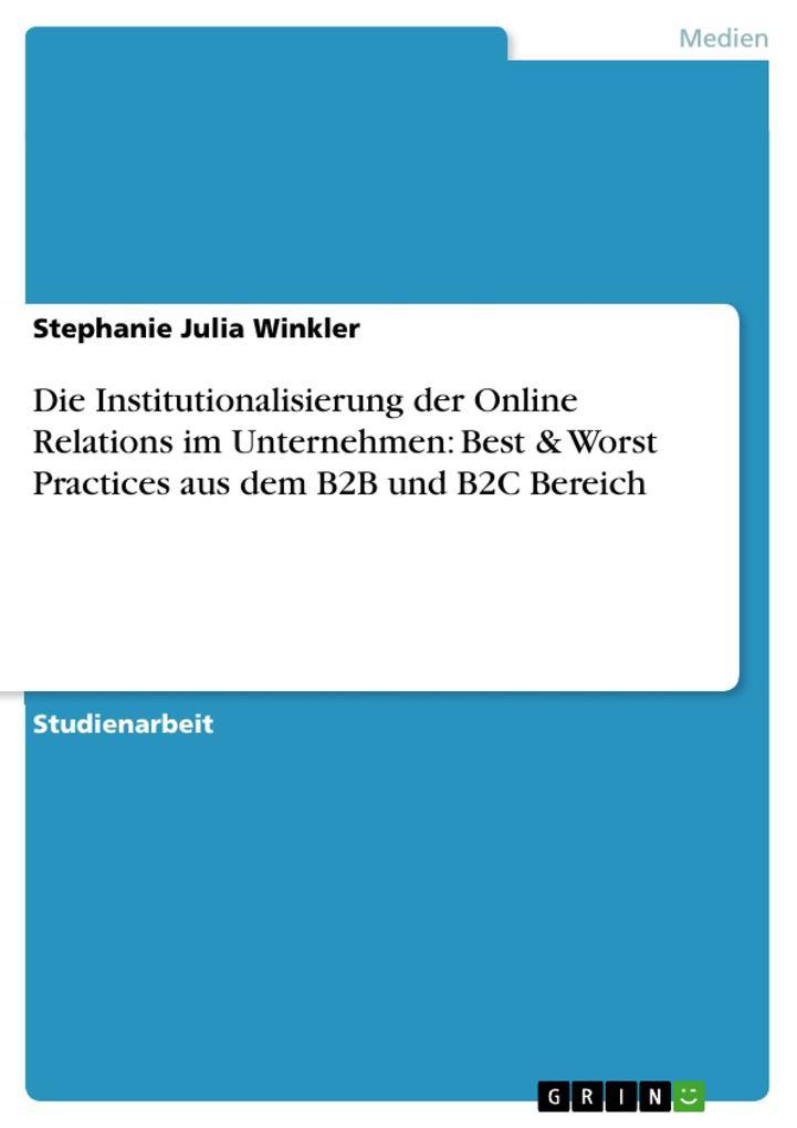 Die Institutionalisierung der Online Relations ...