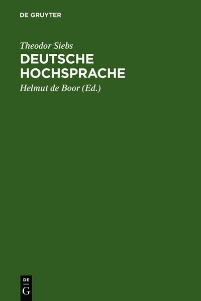 Deutsche Hochsprache als Buch (gebunden)