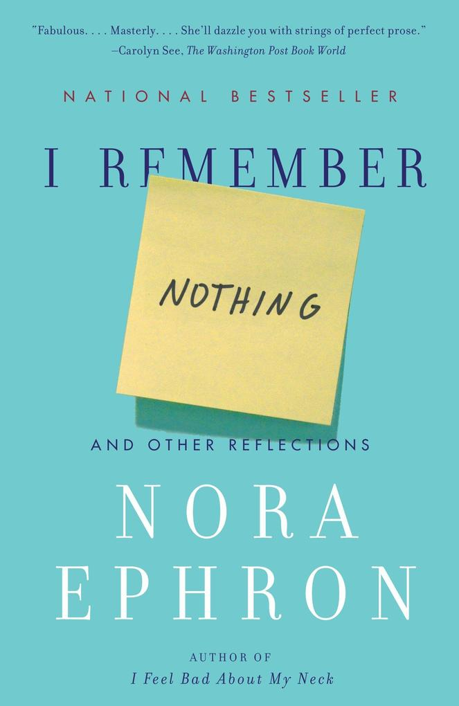 I Remember Nothing: And Other Reflections als Buch (gebunden)