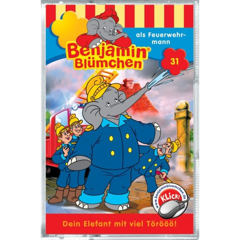 Benjamin Blümchen als Feuerwehrmann, 1 Cassette als Hörbuch
