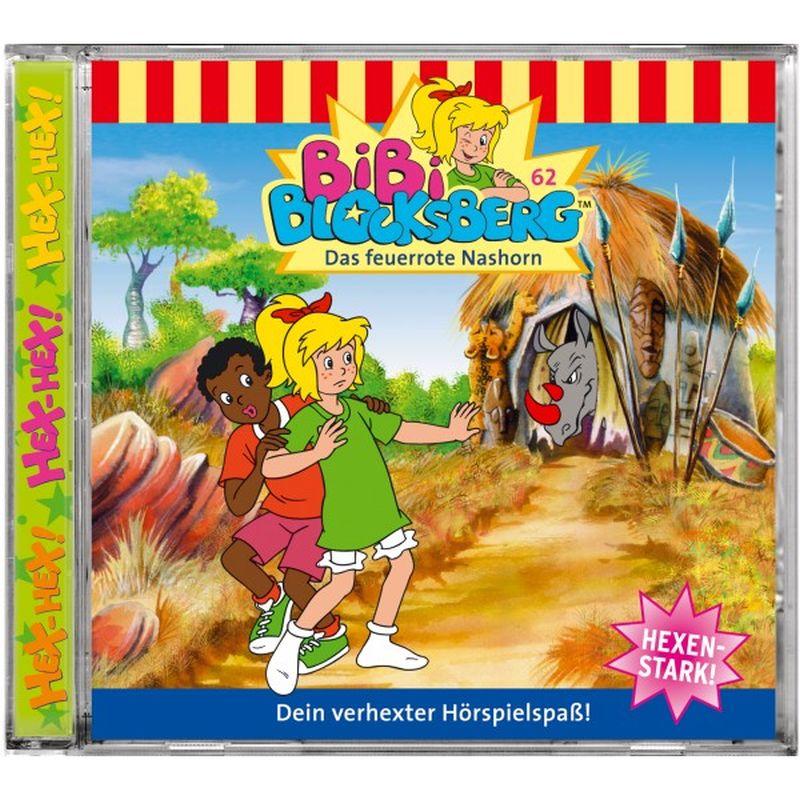 Bibi Blocksberg 062. Das feuerrote Nashorn. CD als Hörbuch