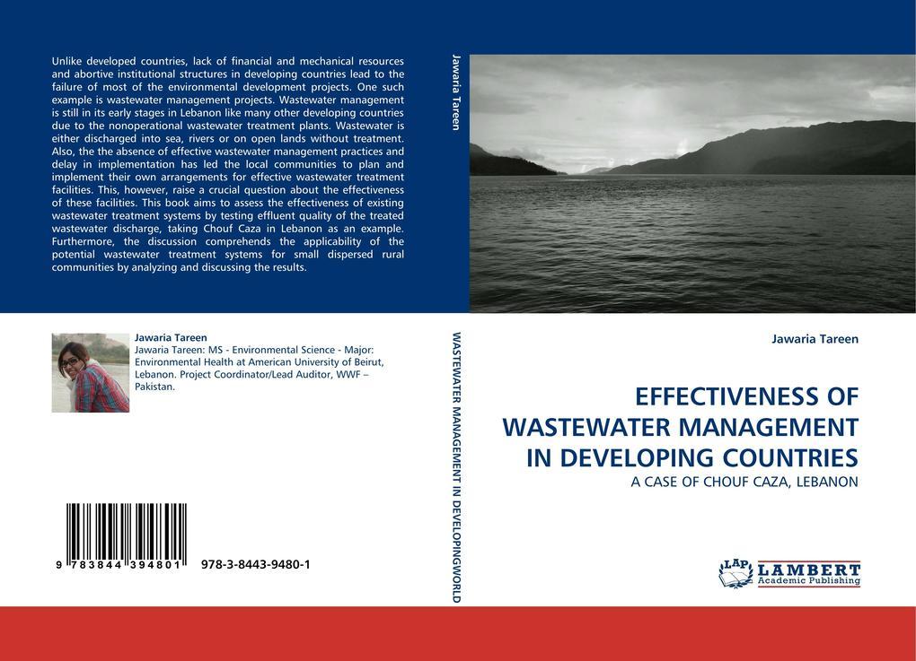 EFFECTIVENESS OF WASTEWATER MANAGEMENT IN DEVELOPING COUNTRIES als Buch (gebunden)