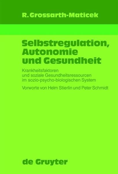 Selbstregulation, Autonomie und Gesundheit als Buch