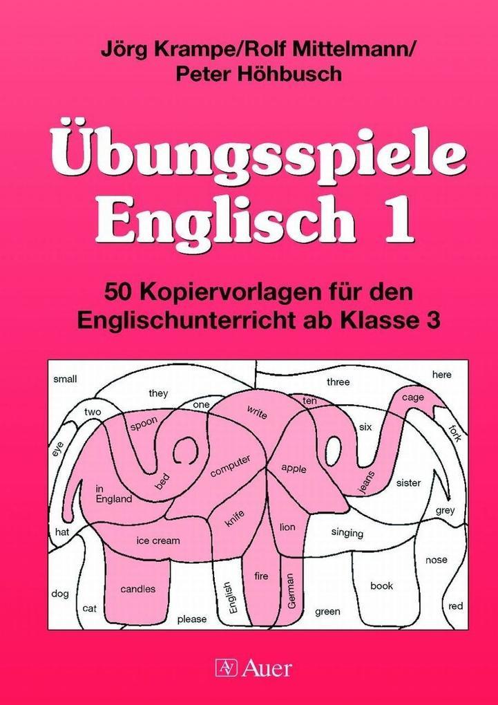 Übungsspiele Englisch 1 als Buch